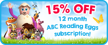 15% off a 12 month Reading Eggs subscription