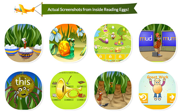 Actual Screenshots From Inside ABC Reading Eggs
