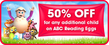 50% off any additional child
