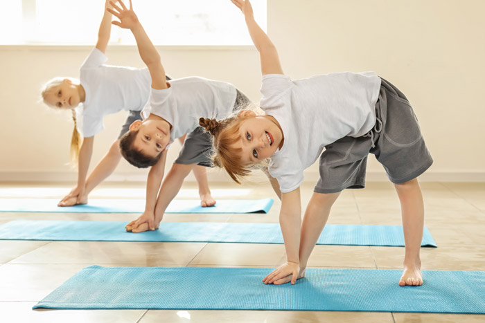 Simple yoga exercises for kids
