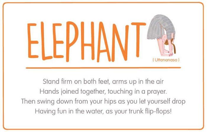 Elephant yoga pose for kids