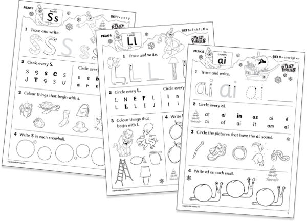 Fast Phonics printable resources