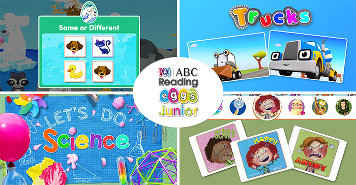 Screenshots from ABC Reading Eggs Junior