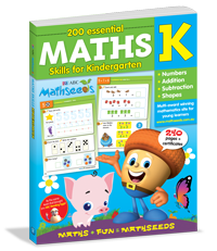 200 Essential Maths Skills for Kindergarten Workbook