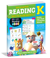 240 Essential Reading Skills for Kindergarten Workbook