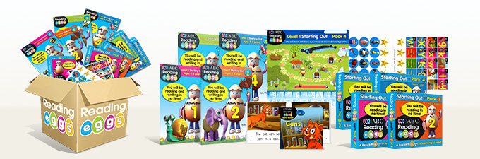Learn to Read ABC Reading Eggs Level 1 Book Pack