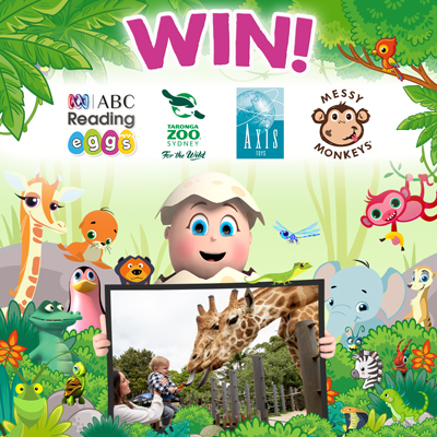 Win the Ultimate Kids Day Out! ABC Reading Eggs, Messy Monkeys, Axis Toys, Taronga Zoo Sydney