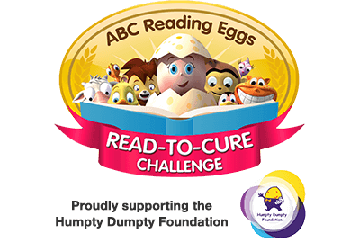 ABC Reading Eggs Read-to-Cure Challenge - proudly supporting the Humpty Dumpty Foundation