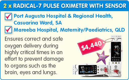 2 x RAD-7 Pulse Oximeter with Sensor