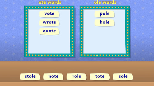 spelling activity for year 1