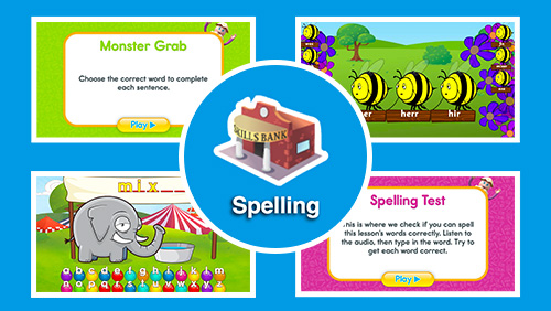 Spelling – ABC Reading Eggs